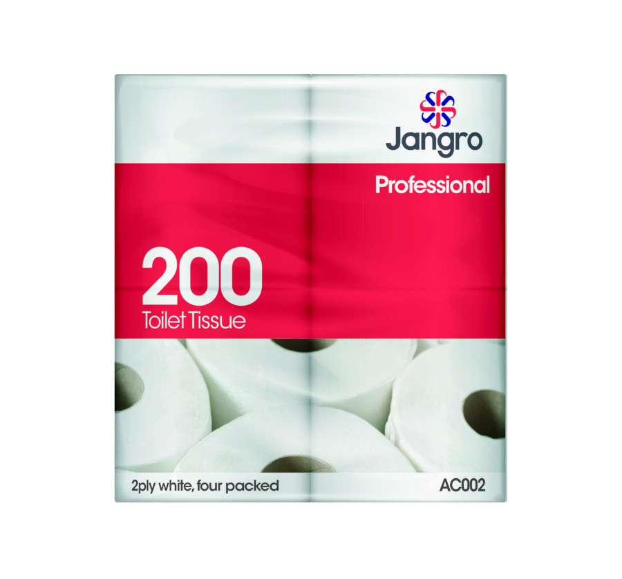 Jangro 200 sheet, Twin Wrapped Toilet Roll