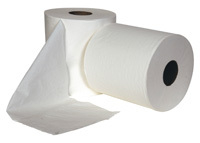 Perforated Centrefeed Roll 300M, White 1 ply