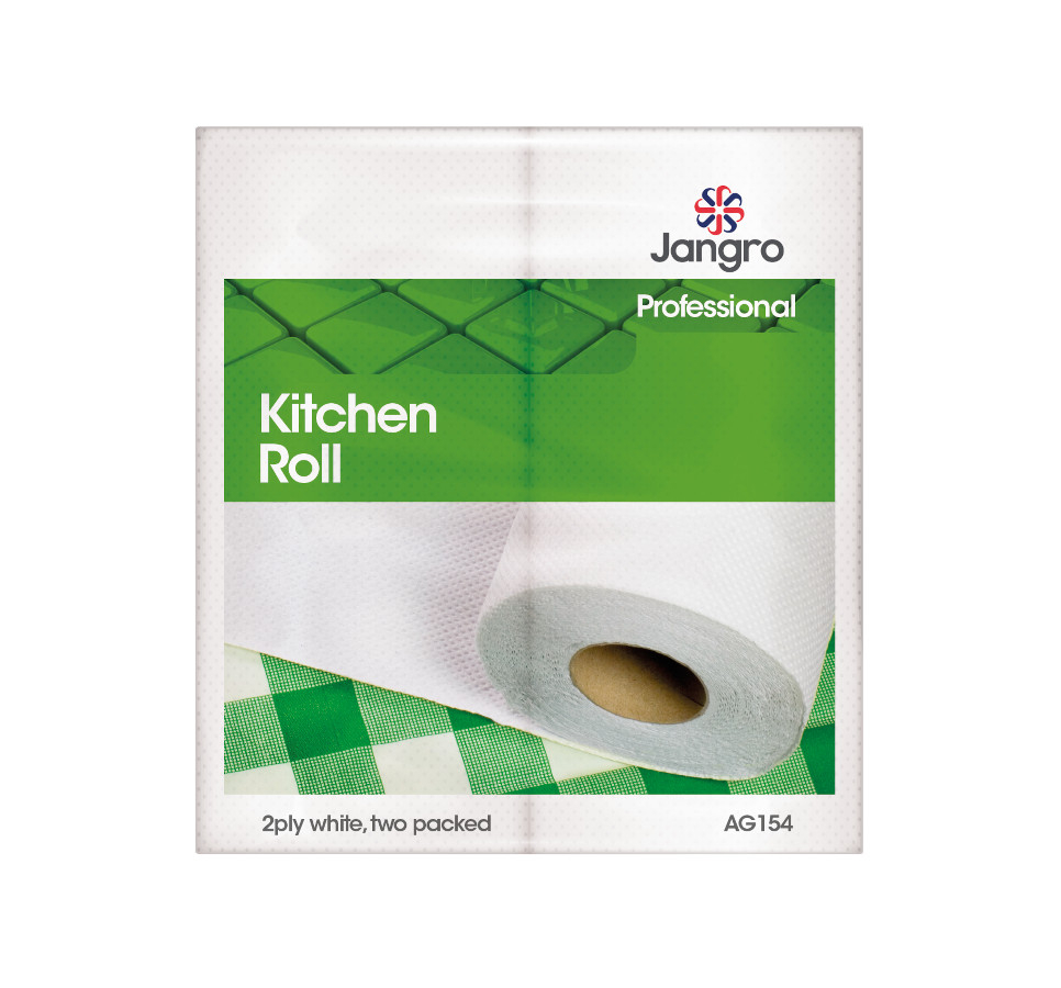 Jangro Kitchen Roll, White 2 ply, 60 shts