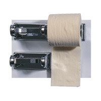 Double Zinc Plated Toilet Roll Holder