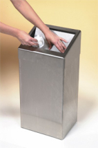 Washroom Waste Bin, Stainless Steel