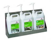 Stainless Steel 3x5 Litre Chemical Wall Shelf, 570mm