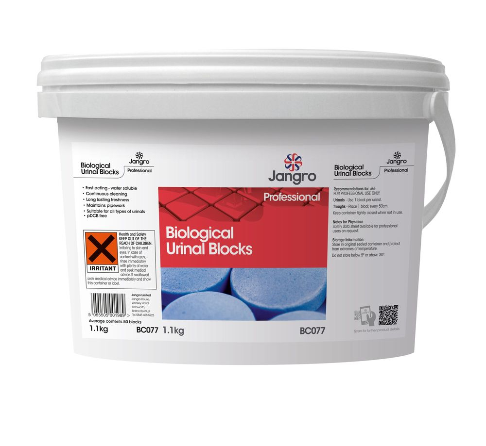 Jangro Biological Urinal Blocks 1.1kg Tub