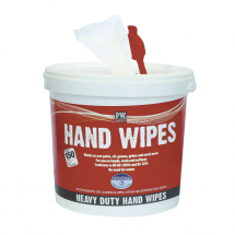 HEAVY DUTY ANTIBACTERIAL HAND & SURFACE WIPES - 150 PER TUB