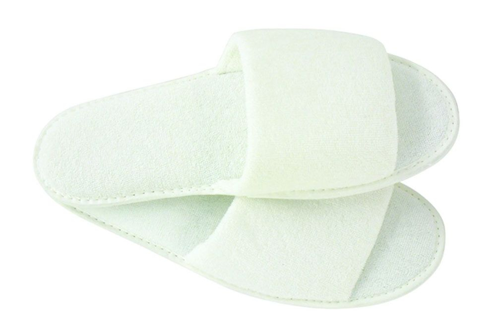 TOWELING SLIPPERS Pair White