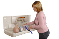 Baby Changing Unit - White - Horizontal