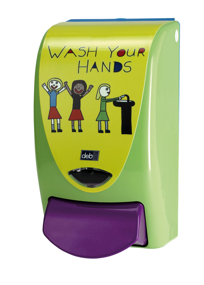 """WASH YOUR HANDS"" CHILDRENS' DISPENS.for Deb 1000 cartridge"