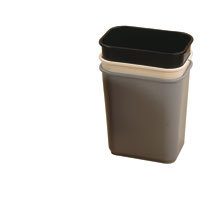 WASTE BIN Rectangular Beige