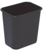 WASTE BIN Rectangular Black
