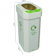 COMBIN RECYCLE BINS, Pack of 5 bins, 25 pictogram stickers