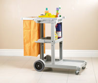 CHEAPIE-CHAPPIE JANITORIAL CART complete with bag