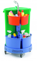 NUMATIC CAROUSEL NC3G CLEANING TROLLEY BIN & CADDIES