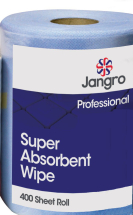 Jangro Super Absorbent Wipe 400 sht per roll (Equiv to KC Wypall) (Sheet 30x30cm)
