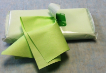 MICROFIBRE CLOTH Green Semi Disposable 40x30cm.1x25