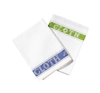 Linen Union Glass Cloth 50 x 76cm Pack of 10 - Green