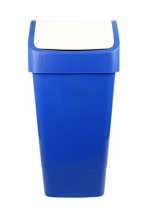 SWING TOP BIN 50 lt Blue