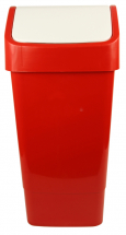 SWING TOP BIN 50 lt Red