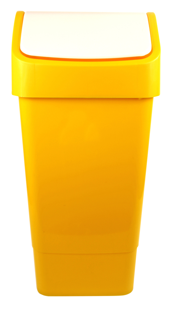 SWING TOP BIN 50 lt Yellow