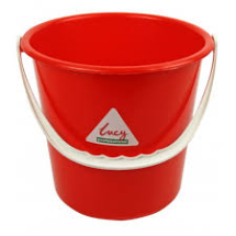 Round Bucket 2 gallon - Red