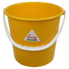 Round Bucket 2 gallon - Yellow