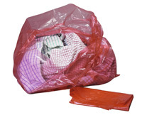 RED LAUNDRY BAG (Disolving Strip) - 120g 18inch x 28inch x 30inch