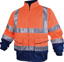 HI VIZ JACKET, Class 2, Orange/Navy, XL