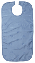 Dignified Clothing Protector/ Apron,snapclosure,45x90cms,Blu