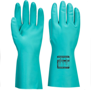 Green Nitrile Gauntlet 33cm Size Medium