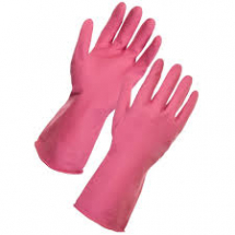 HOUSEHOLD GLOVES Pink Medium Singles