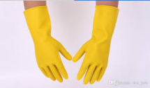 HOUSEHOLD GLOVES Yellow Large Singles