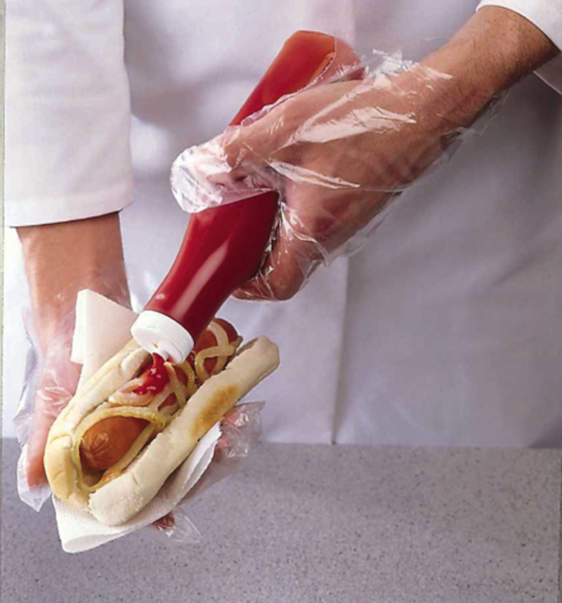 DISPOSABLE GLOVE Polythene Clear Large
