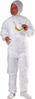 BASIC DISPOSABLE BOILERSUIT Large White with hood