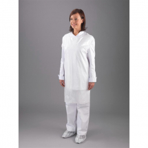 DISPOSABLE WHITE APRONS - 8MU, 100 PER BOX