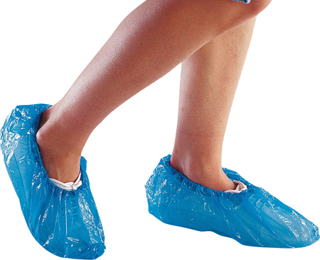 DISPOSABLE OVERSHOE 14inch Blue .