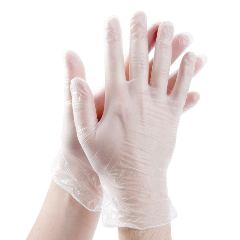 CONTRACT VINYL POWDER FREE GLOVE, Clear, Medium