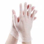 VINYL CLEAR GLOVES - SIZE MEDIUM, 100 PER BOX