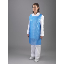 DISPOSABLE BLUE ECONOMY APRONS - 8MU, 100 PER BOX