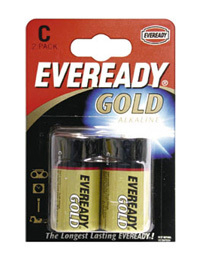 ALKALINE BATTERIES 2xC pack