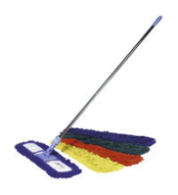 40cm Sweeper complete with break frame, chrome plated handle & acrylic sweeper heads - Red