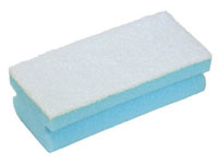 Soft Easigrip Sponge Scouring Pad Packs of 10 Blue/White (140x68x48mm)