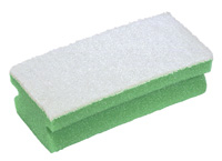 Soft Easigrip Sponge Scouring Pad Packs of 10 Green/White (140x68x48mm)