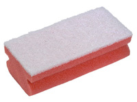Soft Easigrip Sponge Scouring Pad  Packs of 10 Red/White (140x68x48mm)