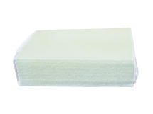 SCOURER PAD, Contract, large 6x9inch, 150x225mm, White,10 pack