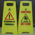Jangro Wet Floor Sign, Plastic