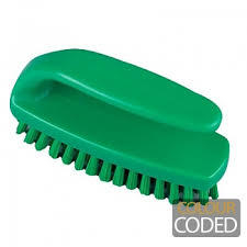 Hygiene Grippy Nail Brush Stiff 110mm Green