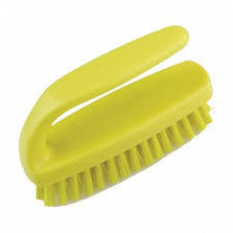 Hygiene Grippy Nail Brush Stiff 110mm Yellow