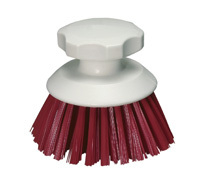 Hygiene Round Hand Scrubbing Brush - Red