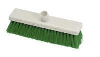 Hygiene Flat Sweeping Broom, medium 300mm - Green / Fits handles HP107 or HP106