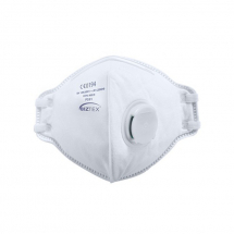 FFP3 VALVED DOLOMITE FOLD FLAT RESPIRATOR DISPOSABLE FACE MASK, 20 PER PACK