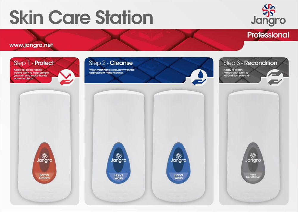 Jangro Skin Care Station Board Only 80x57cm (Holds 4 Dispens)